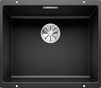 Blanco SUBLINE 500-U SILGRANIT черный с отв.арм. InFino