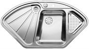 Blanco BLANCODELTA-IF нерж. сталь зерк.полировка с клапаном-автоматом InFino